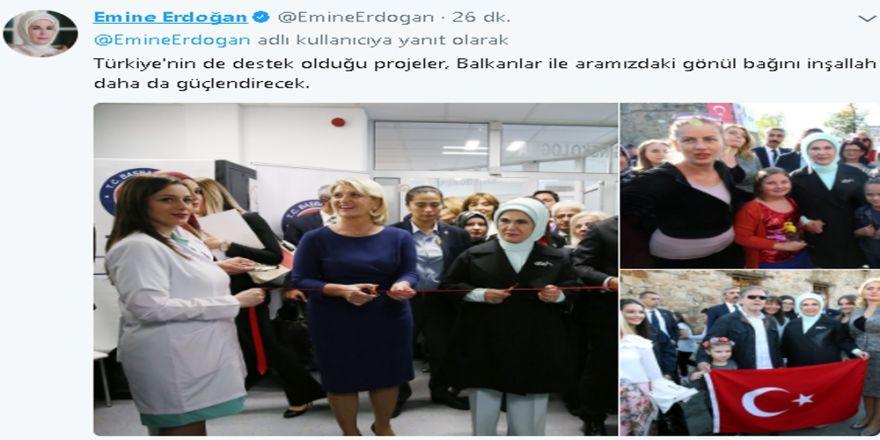 Emine Erdoğan Twitter'dan İlk Paylaşımını Yaptı