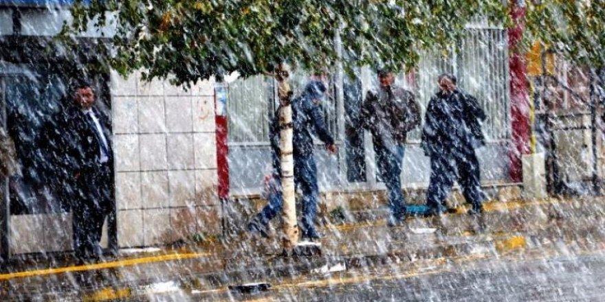 Kar yağışı başladı