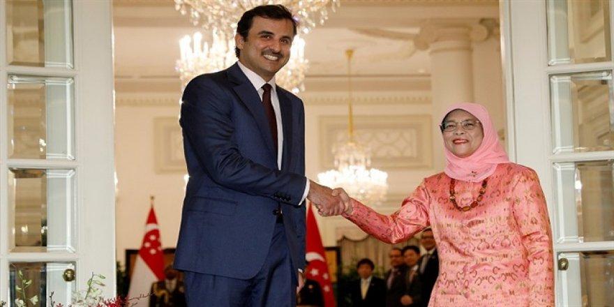 Katar Emiri'nden Singapur'a ziyaret
