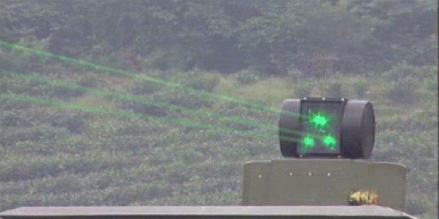 Çin'den lazer silahı