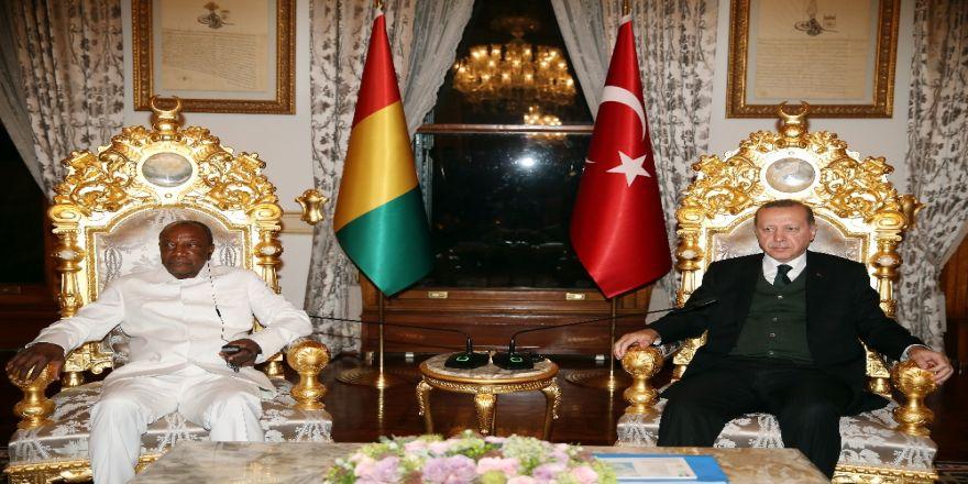 Cumhurbaşkanı Erdoğan, Gineli Mevkidaşını Kabul Etti