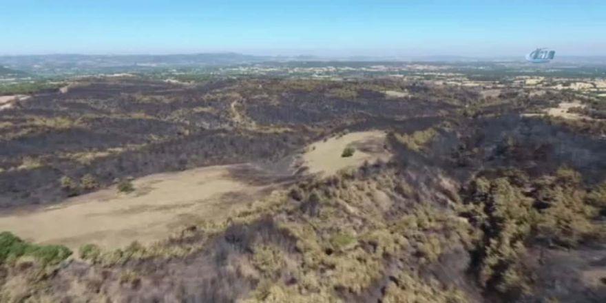 Çanakkale'de Yanan Orman Alanları İlk Kez Drone İle Görüntülendi