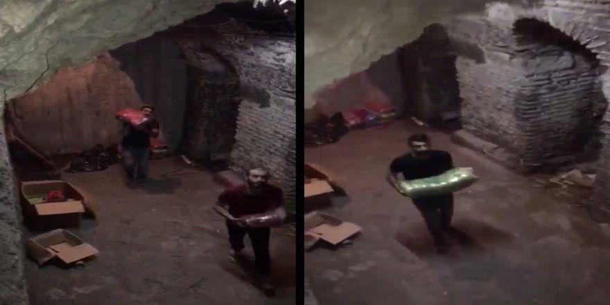 Polis Hamal Kılığına Girdi, Kaçakçıları Böyle Yakaladı