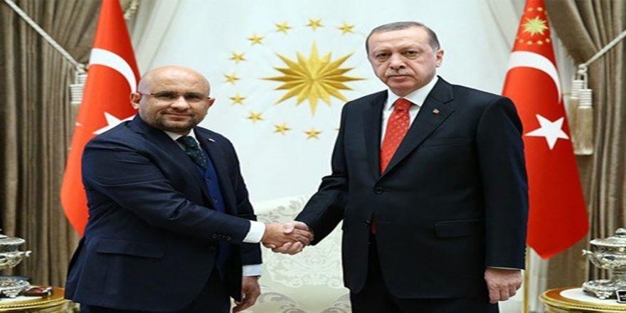 Erdoğan Yeşilay Başkanını Kabul Etti