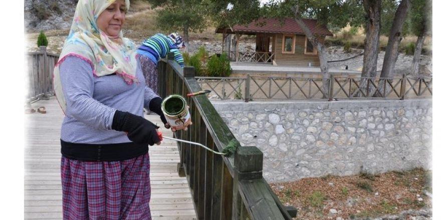 Harmankaya Kanyonu Tabiat Parkı Alanında Bakım Ve Onarım Çalışması