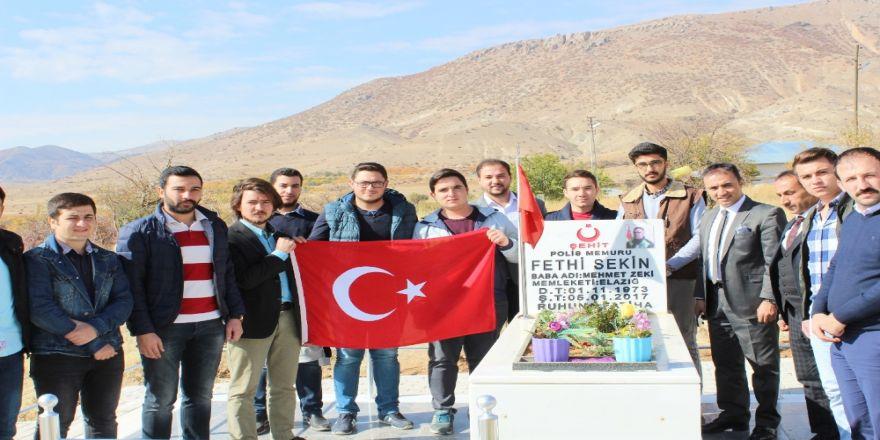 Öğrenciler, şehit Fethi Sekin'i doğum gününde unutmadı