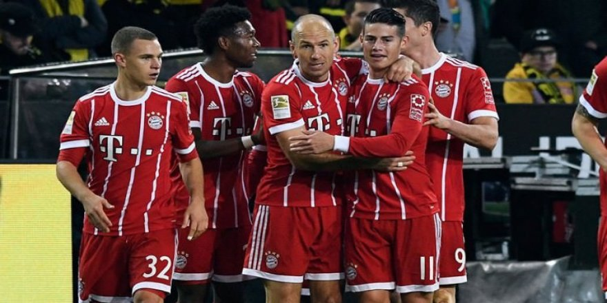 Bayern şahlandı Dortmund tepetaklak