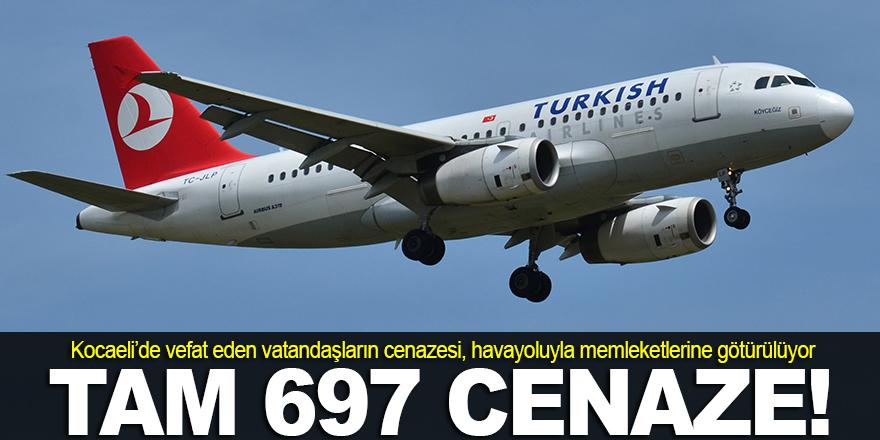 697 cenaze, havayoluyla nakledildi