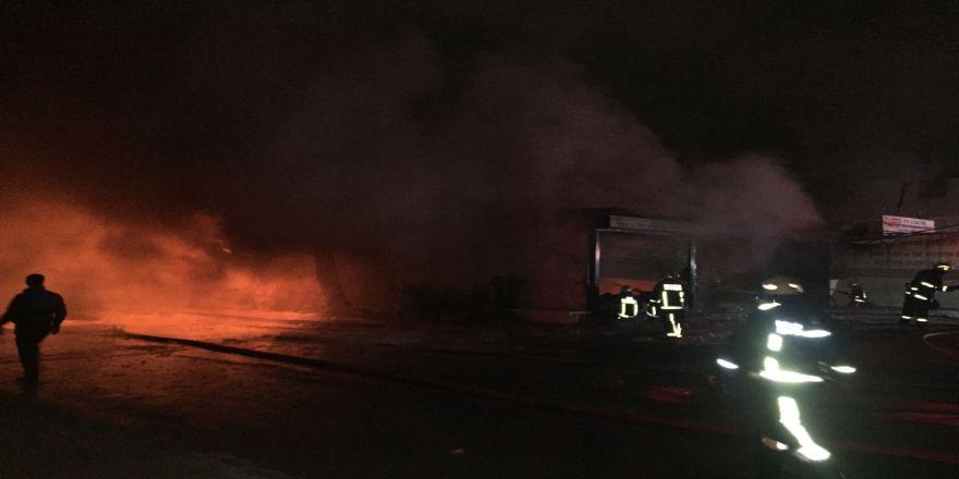Lastik Fabrikasında Korkutan Yangın