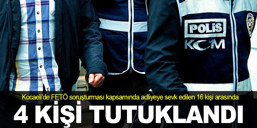 Kocaeli'de FETÖ'den 4 kişi tutuklandı