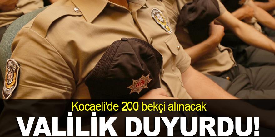Kocaeli'de 200 bekçi alınacak