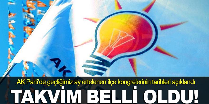 AK Parti'de takvim açıklandı