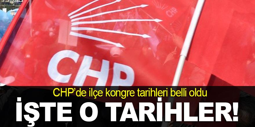 CHP'de ilçe kongre tarihleri belli oldu