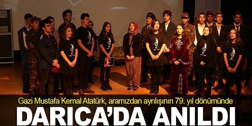 Atatürk, Darıca'da törenlerle anıldı