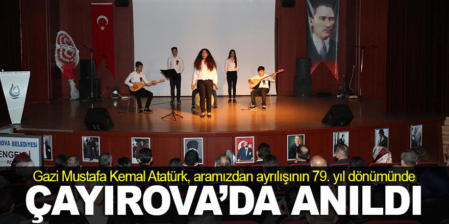 Atatürk, Çayırova'da anıldı