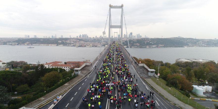 39. İstanbul Maratonu Havadan Görüntülendi
