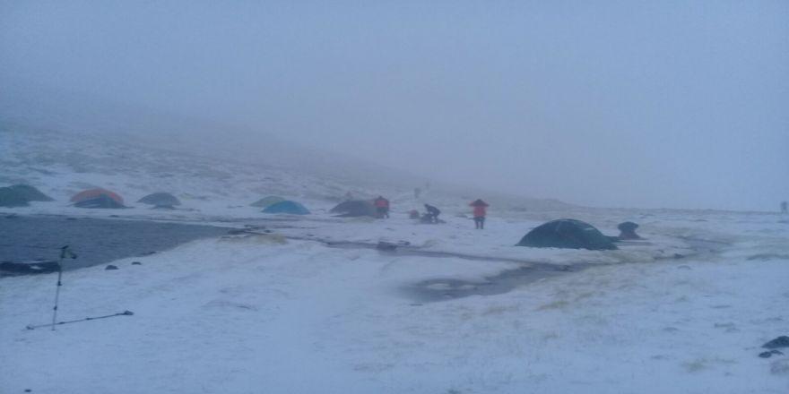 Uludağ'da Kar Kalınlığı 10 Santim