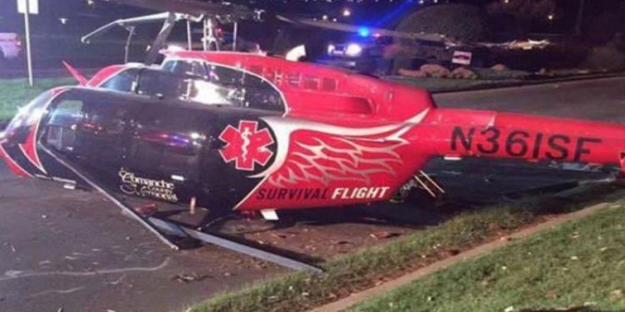 Helikopter düştü: 3 ölü