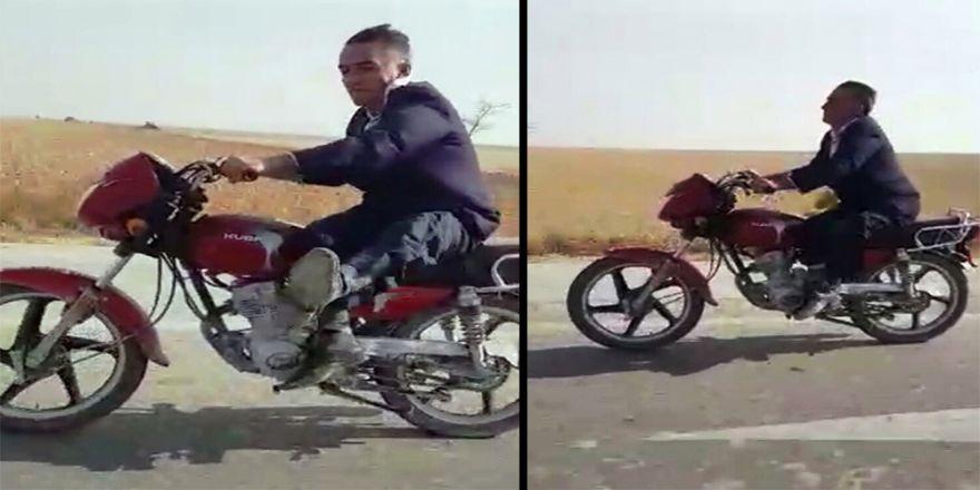 Motosiklet Üzerinde Yapmadığı Kalmadı