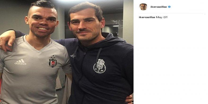 Casillas'tan Pepe Paylaşımı