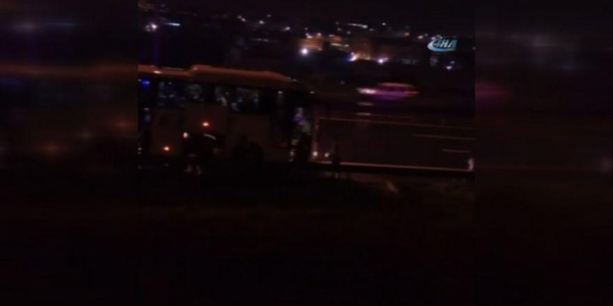 Tem'de Otobüsün Çarptığı İşçi Öldü