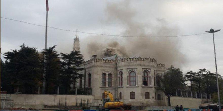 İstanbul Üniversitesi'nde yangın!