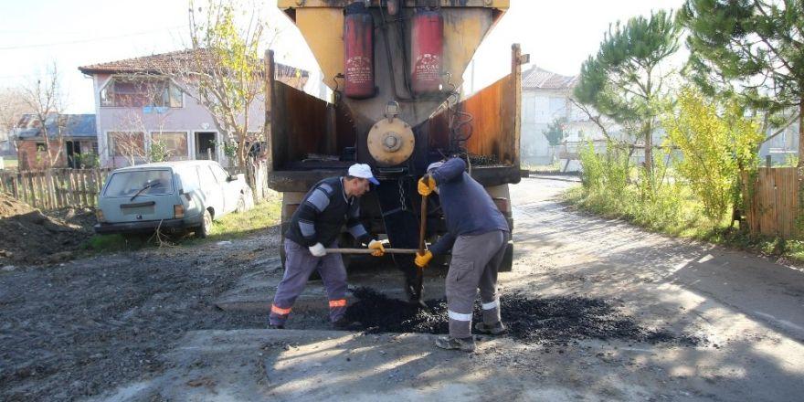 Yeni mahalle'de asfalt çalışmaları