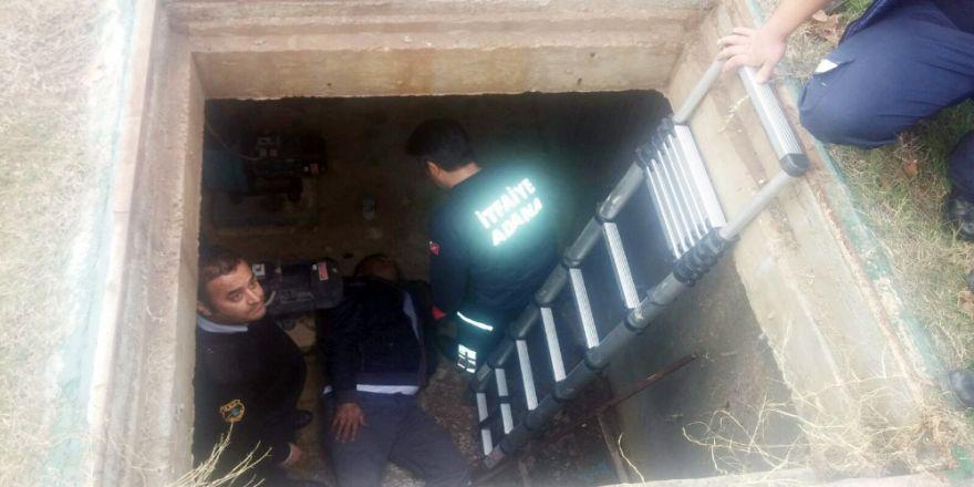 Kuyuya düşen belediye personeli kurtarıldı
