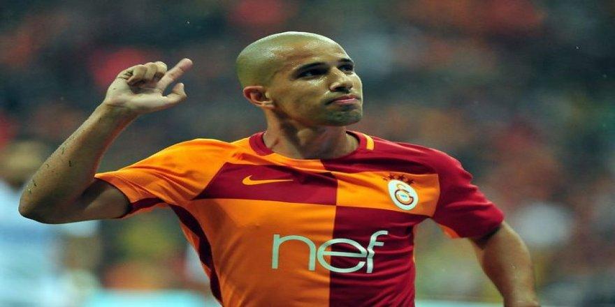 Galatasaraylı Feghouli, takımı ateşe attı