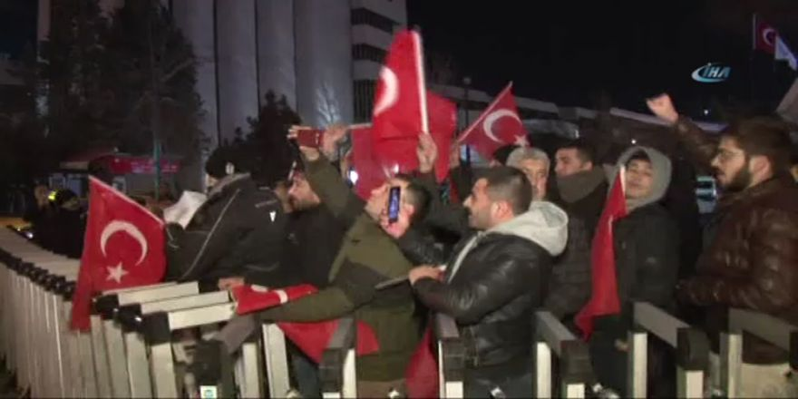 ABD Büyükelçiliği önünde Kudüs protestosu