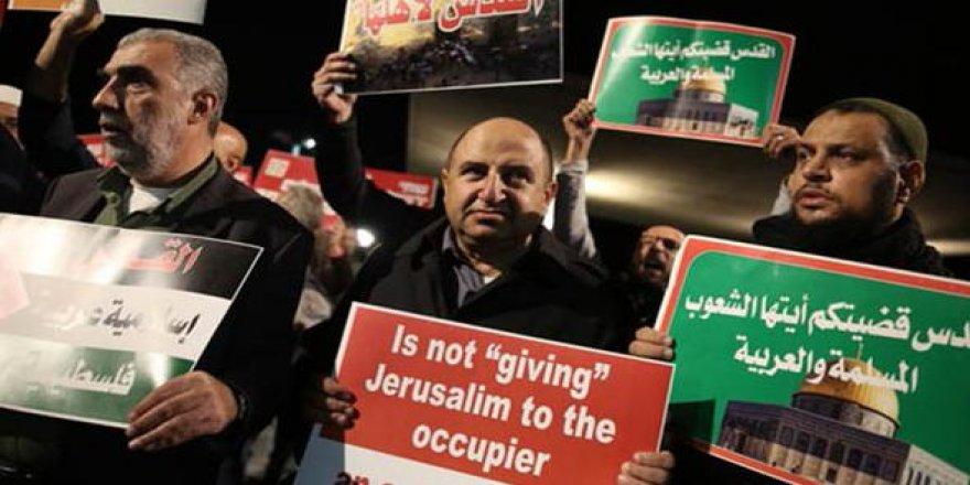 İsrail'de Kudüs protestosu