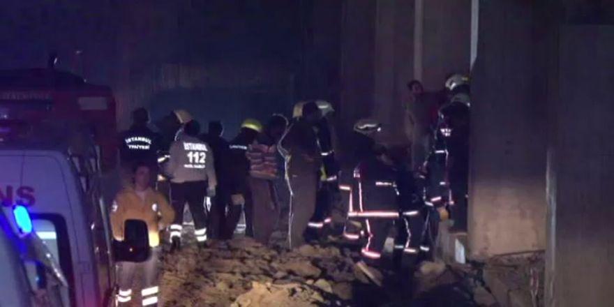 İstanbul'da spor kompleksinde göçük: 2 yaralı