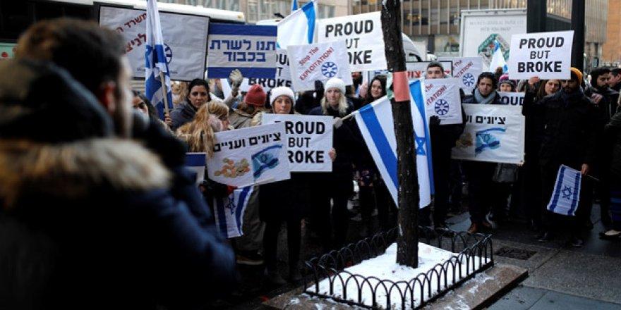 İsrail hükümetine maaş protestosu