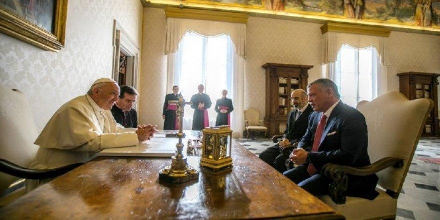 Ürdün Kralı, Papa Francis ile bir araya geldi