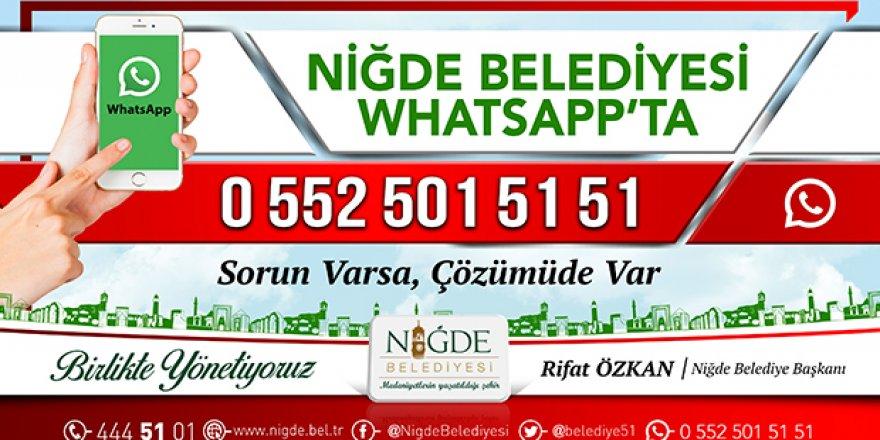 Niğde Belediyesi Whatsapp hattı kuruldu