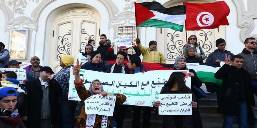 Tunus'ta İsrail aleyhinde protesto