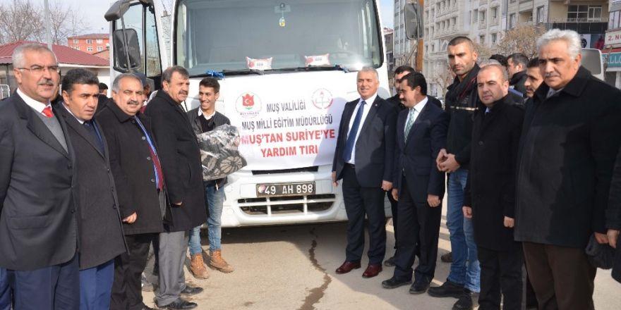 Muş'tan Suriye'ye battaniye yardımı