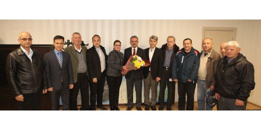 Balkan Türkleri ve Erzurumlular, Başkan Köşker'i ziyaret etti