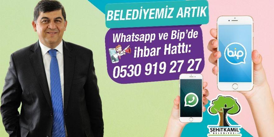 Şehitkamil Belediyesi artık Whatsapp ve Bip'te