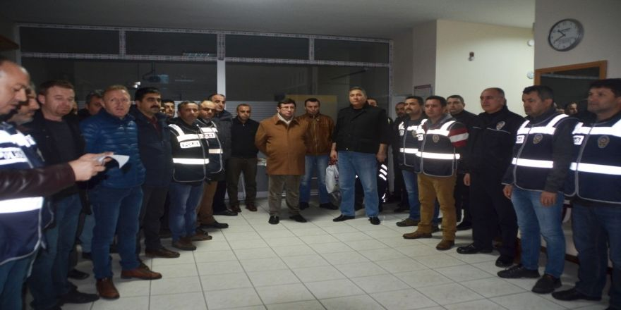 Bafra'da yılbaşı huzur operasyonu