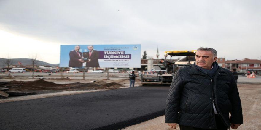 Başkan Toçoğlu, yol çalışmalarını inceledi