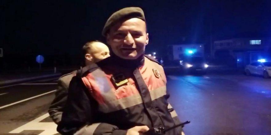 Jandarma spiker oldu, muhabire anons dersi verdi