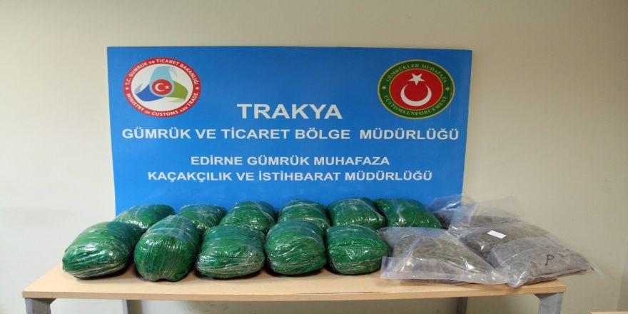 Kapıkule'de tırda 381 bin TL'lik uyuşturucu ele geçirildi