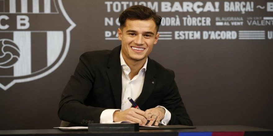 Barcelona'da Coutinho imzayı attı