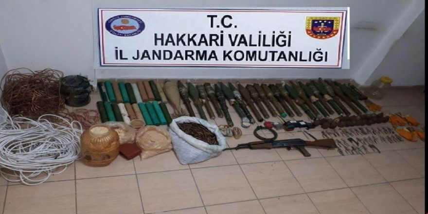 PKK terör örgütü patlayıcıları ele geçirildi