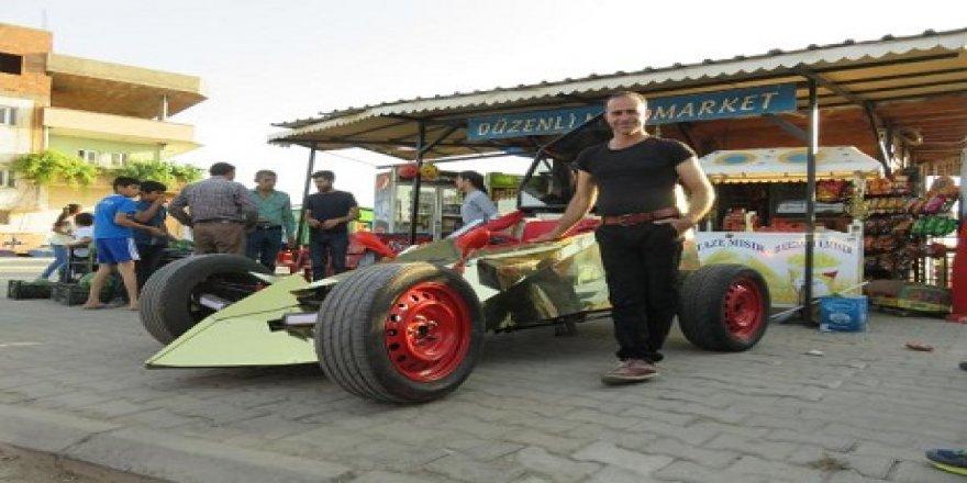Hayali olan yarış arabasını 35 bin liraya yaptı