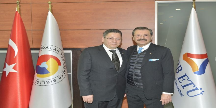 Kdz Ereğli TSO yönetimi, Hisarcıklıoğlu'nu ziyaret etti