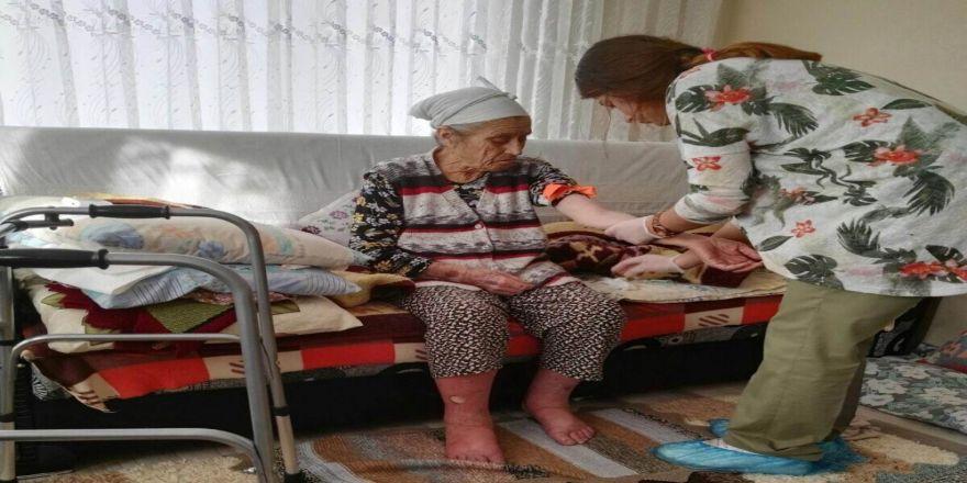Pınarhisar'da evde sağlık hizmeti çalışmaları