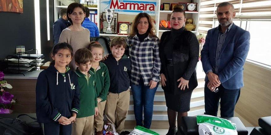 Öğrencilerden Marmara Gazetesi'ne ziyaret