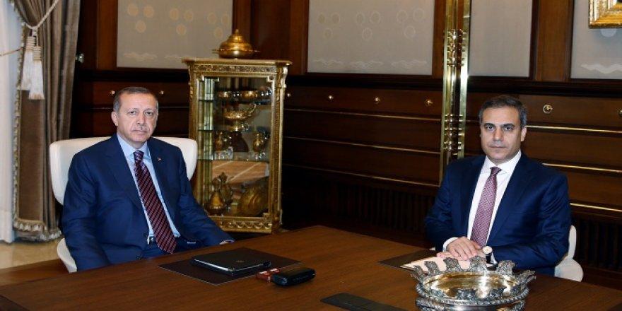 Erdoğan, Hakan Fidan'ı kabul etti